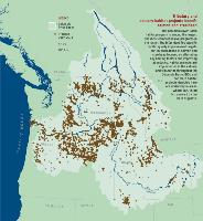 Map of Columbia River basin habitat projects