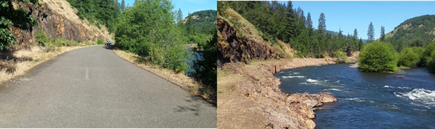 Klickitat Watershed Enhancement Project - before & after